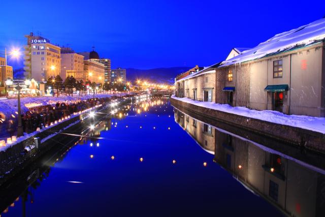 マジックアワーの小樽運河