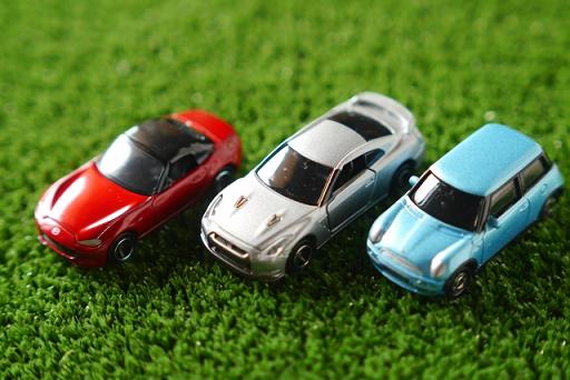 3台のミニカー