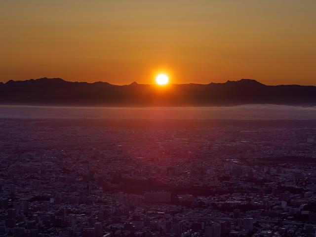 藻岩山の日の出