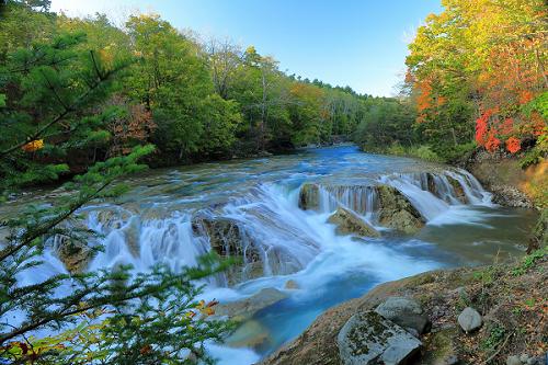 大滝ナイヤガラの滝と紅葉