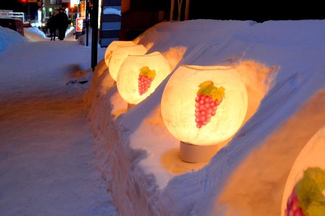 小樽雪あかりの路のランタン